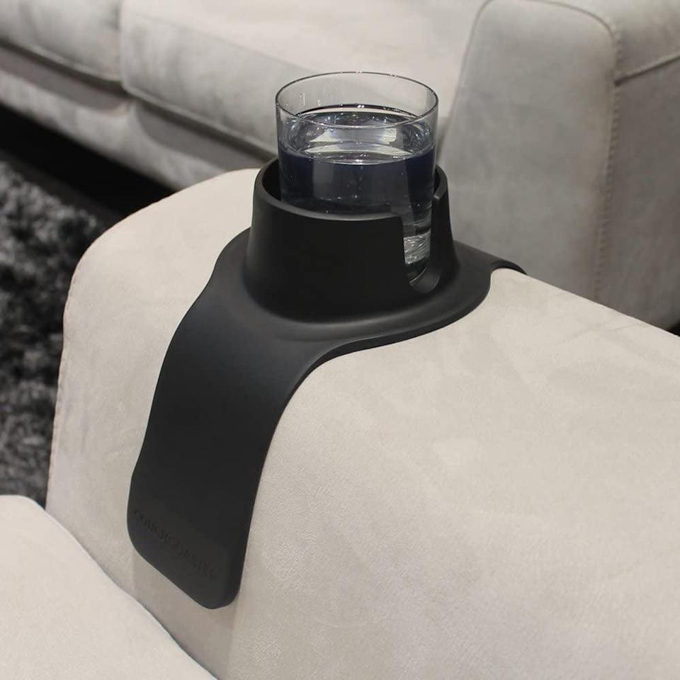 <p>This <span>CouchCoaster The Ultimate Anti-Spill Cup Holder</span> ($25) is genius.</p>