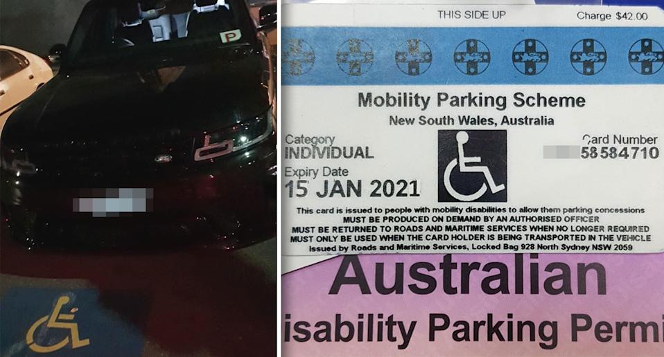 The vehicle and fake permit used by the female driver. Source: Traffic and Highway Patrol Command - NSW Police