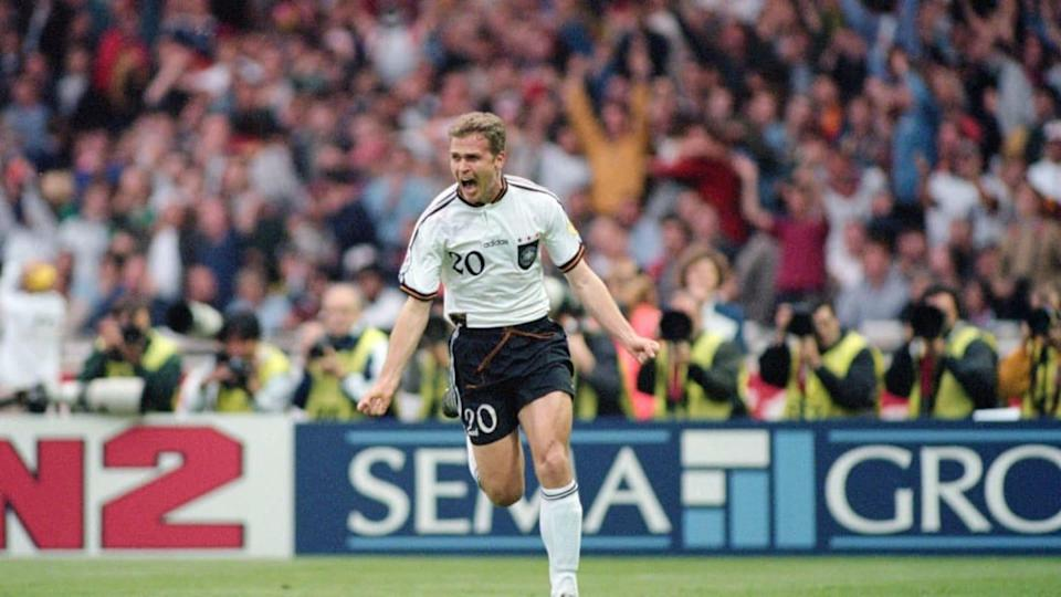 1996 UEFA Euro Championships Final Germany v Czech Republic | Clive Mason/Getty Images
