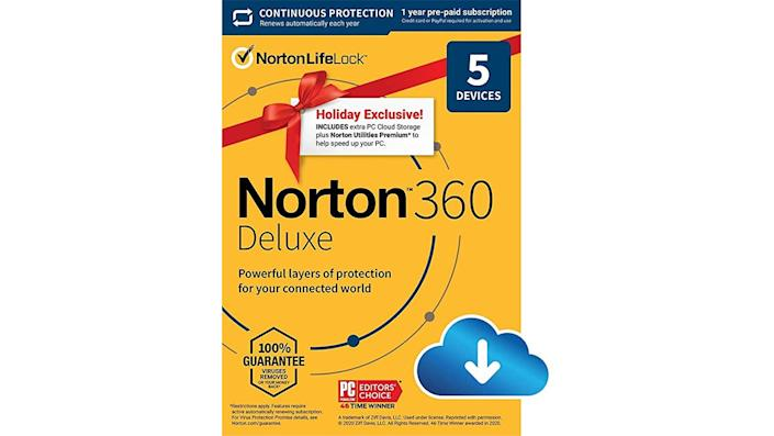 Protect your devices with this year-long subscription.