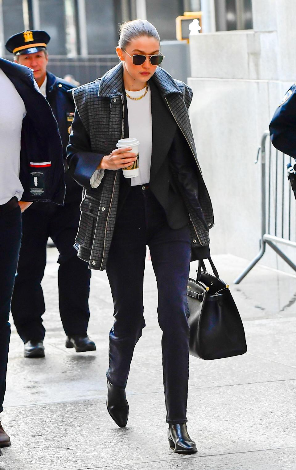 She headed to Manhattan Criminal Court for Harvey Weinstein's trial meaning business.