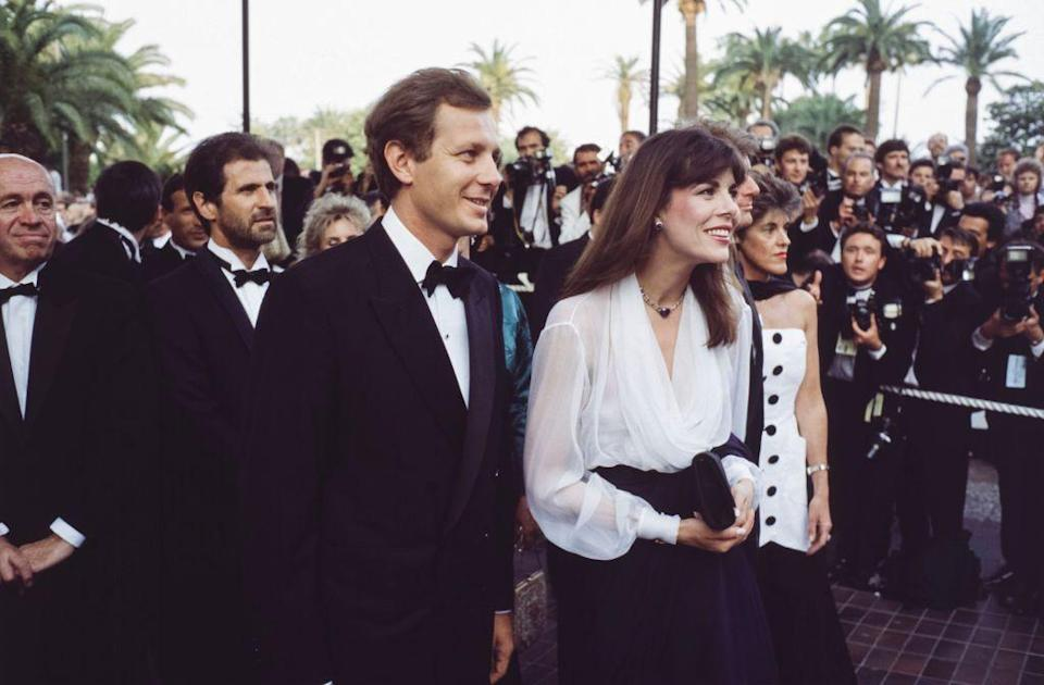 <p>Princess Caroline and Stefano Casiraghi at the Cannes Film Festival in 1989. </p>