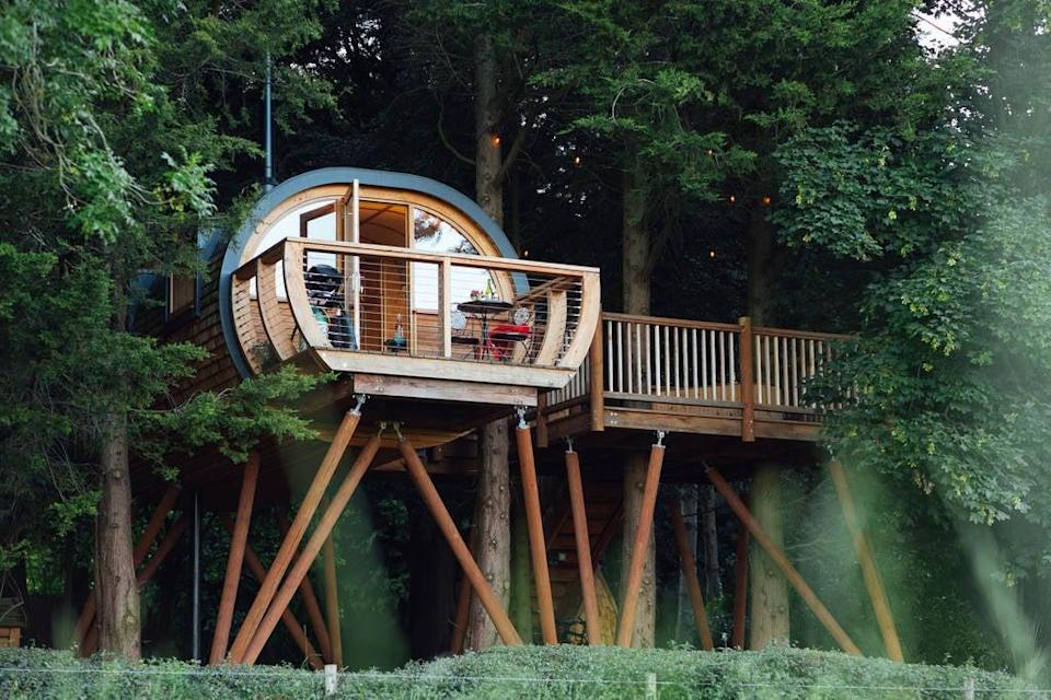Live out your treehouse dreams near GlastonburyDabinett Treehouse / Canopy & Stars