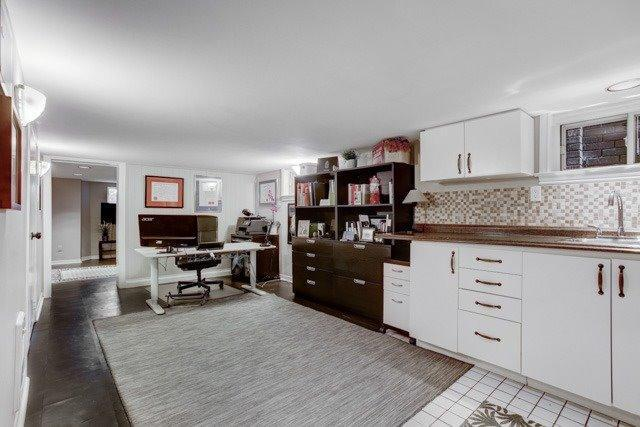 <p><span>378 Cleveland St., Toronto, Ont.</span><br> The basement has the potential to be a rental income suite with full kitchen, office, and laundry room.<br> (Photo: Zoocasa) </p>