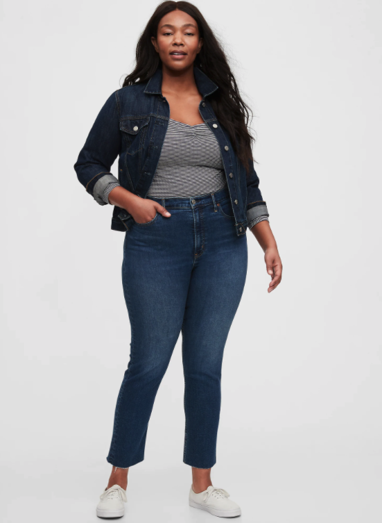 """<h2>Gap High Rise Vintage Slim Jeans</h2><br>The Perfect Fit<br><br>According to shoppers who snagged this best-selling cigarette style, these jeans are not too tight but not too loose either, featuring low-stretch denim that's snug at first but soon forms to your shape. Plus, they're part of Gap's water-saving Washwell program which has saved millions of liters of water since 2016.<br><br><strong>The Hype: </strong>4.2 out of 5 stars; 48 reviews on Gap.com <br><br><strong>What They're Saying</strong>: """"Love the high rise as I can wear my cropped tops without showing my skin. Not too skinny either. Love love love. Fit is very true to size."""" — Cheryl L., Gap.com reviewer<br><em><br>Shop <strong><a href=""""https://www.gap.com/browse/product.do?pid=600108002"""" rel=""""nofollow noopener"""" target=""""_blank"""" data-ylk=""""slk:Gap.com"""" class=""""link rapid-noclick-resp"""">Gap.com</a></strong></em><br><br><strong>Gap</strong> High Rise Vintage Slim Jeans, $, available at <a href=""""https://go.skimresources.com/?id=30283X879131&url=https%3A%2F%2Fwww.gap.com%2Fbrowse%2Fproduct.do%3Fpid%3D600108002"""" rel=""""nofollow noopener"""" target=""""_blank"""" data-ylk=""""slk:Gap"""" class=""""link rapid-noclick-resp"""">Gap</a>"""