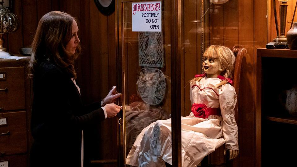 Annabelle Comes Home is the third film centred on the evil doll (Credit: Warner Bros)