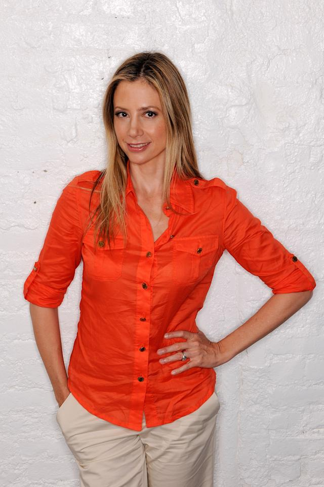 NEW YORK, NY - APRIL 23:  Actress Mira Sorvino visits the Tribeca Film Festival 2011 portrait studio on April 23, 2011 in New York City.  (Photo by Larry Busacca/Getty Images for Tribeca Film Festival)
