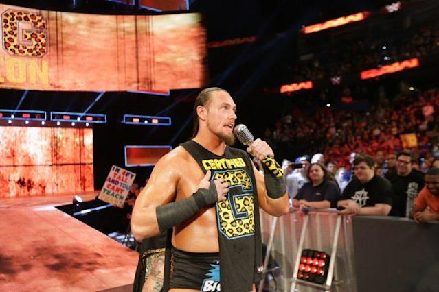 "Big Cass makes his way to the ring during a live episode of ""Monday Night Raw."" (Photo courtesy of WWE)"