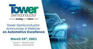 Tower Semiconductor Announces a Webinar on Automotive Excellence