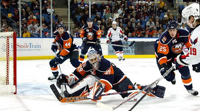 <p>The first goaltender ever drafted No. 1 overall, DiPietro showed flashes of brilliance while battling chronic hip and knee injuries that called his 15-year contract with the Islanders into question. Following the 2012-13 season, the Isles bought out the remaining eight years on his contract and DP has since retired. — Notable picks: No. 2: Dany Heatley, RW, Atlanta Thrashers | No. 3: Marian Gaborik, RW, Minnesota Wild | No. 118: Lubomir Visnovsky, D, Los Angeles Kings | No. 205: Henrik Lundqvist, G, New York Rangers</p>