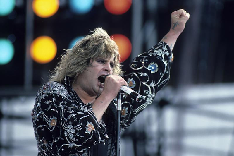Ozzy Osbourne performs in concert during the Philadelphia portion of 'Live Aid' on July 13, 1985. (Photo by Larry Busacca/WireImage)