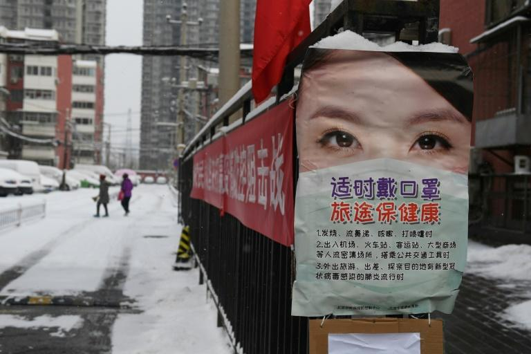 Chinese authorities are tapping their propaganda powers to combat the new coronavirus (AFP Photo/GREG BAKER)
