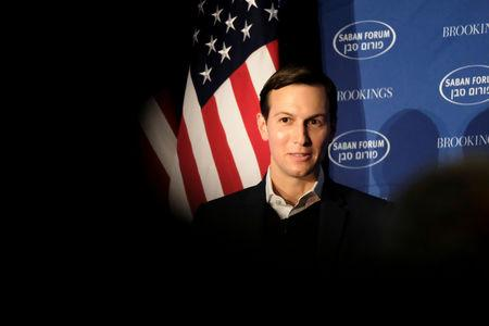 White House senior adviser Jared Kushner delivers remarks on the Trump administration's approach to the Middle East region at the Saban Forum in Washington