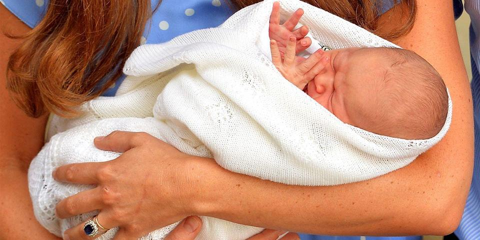 <p>The newborn royal meets the world.</p>