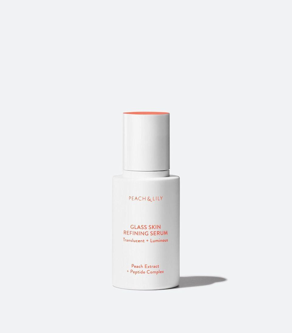 """<p><strong>PEACH & LILY</strong></p><p>ulta.com</p><p><strong>$39.00</strong></p><p><a href=""""https://go.redirectingat.com?id=74968X1596630&url=https%3A%2F%2Fwww.ulta.com%2Fp%2Fglass-skin-refining-serum-xlsImpprod18971035&sref=https%3A%2F%2Fwww.harpersbazaar.com%2Fbeauty%2Fskin-care%2Fg37060038%2Fbest-korean-skin-care-products%2F"""" rel=""""nofollow noopener"""" target=""""_blank"""" data-ylk=""""slk:Shop Now"""" class=""""link rapid-noclick-resp"""">Shop Now</a></p><p>Not many products can claim to define an entire skincare movement. But this serum is synonymous with """"glass skin,"""" the concept of super-dewy skin that got its start in K-beauty. In addition to that signature dew, the formula also contains niacinamide to brighten dark spots, hyaluronic acid to hydrate, and a peptide complex to plump fine lines.</p>"""