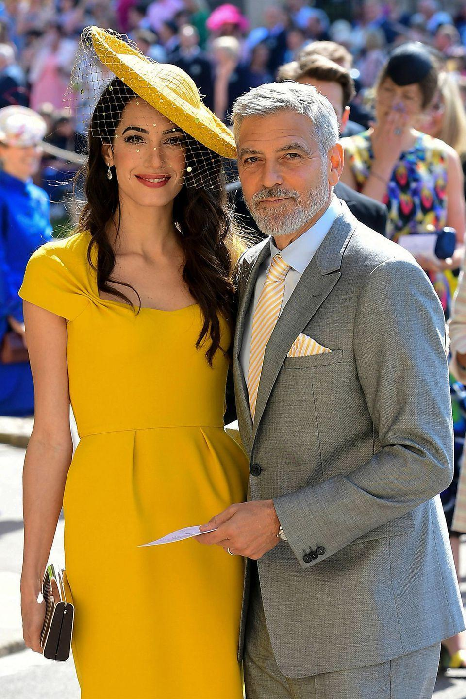 "<p>In 2014, the world was shocked when famed bachelor George Clooney, then 52 years old, announced his engagement to international human rights lawyer, then 35-year-old Amal Alamuddin. The couple officially tied the knot in September of 2014 (<a href=""https://www.harpersbazaar.com/celebrity/latest/a15947657/how-george-clooney-first-met-amal/"" rel=""nofollow noopener"" target=""_blank"" data-ylk=""slk:just a year after they met"" class=""link rapid-noclick-resp"">just a year after they met</a>) with a beautiful <a href=""https://www.harpersbazaar.com/uk/bazaar-brides/news/g32062/george-clooney-and-amal-alamuddins-wedding-in-pictures/"" rel=""nofollow noopener"" target=""_blank"" data-ylk=""slk:Venetian wedding"" class=""link rapid-noclick-resp"">Venetian wedding</a>, and <a href=""https://www.harpersbazaar.com/celebrity/latest/a9956228/amal-clooney-gives-birth-twins/"" rel=""nofollow noopener"" target=""_blank"" data-ylk=""slk:welcomed two children"" class=""link rapid-noclick-resp"">welcomed two children</a>, twins Ella and Alexander, in June of 2017.</p>"