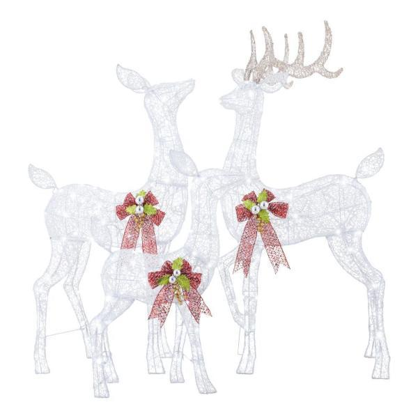 Home Accents Holiday Fantasleigh Outdoor Christmas Deer Family