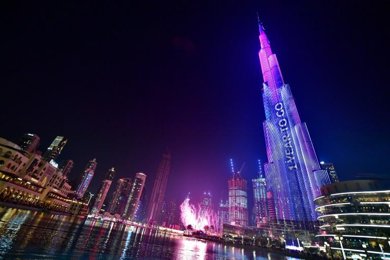Dubai in October marked one year to go until the Expo 2020 with a show at the world's tallest building, the Burj Khalifa (AFP Photo/Giuseppe CACACE)