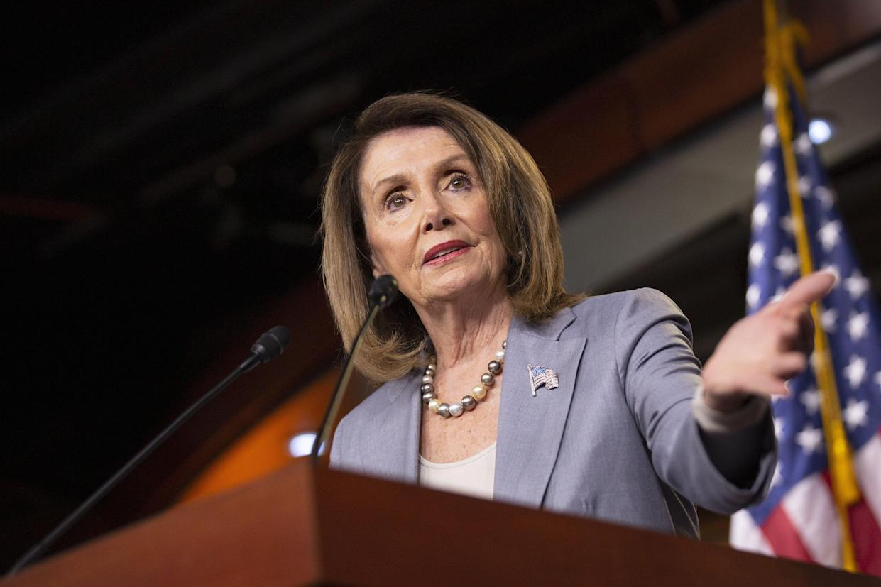 U.S. House Speaker Nancy Pelosi, a California Democrat, speaks during a news conference on Capitol Hill in Washington, D.C., on Thursday, May 9, 2019. Pelosi will make the decision on when to call a full House vote on the Attorney General William Barr contempt measure but told reporters Thursday that Democrats haven't decided when to hold the vote and that it might be combined with other contempt citations. (Photo: Stefani Reynolds/Bloomberg)