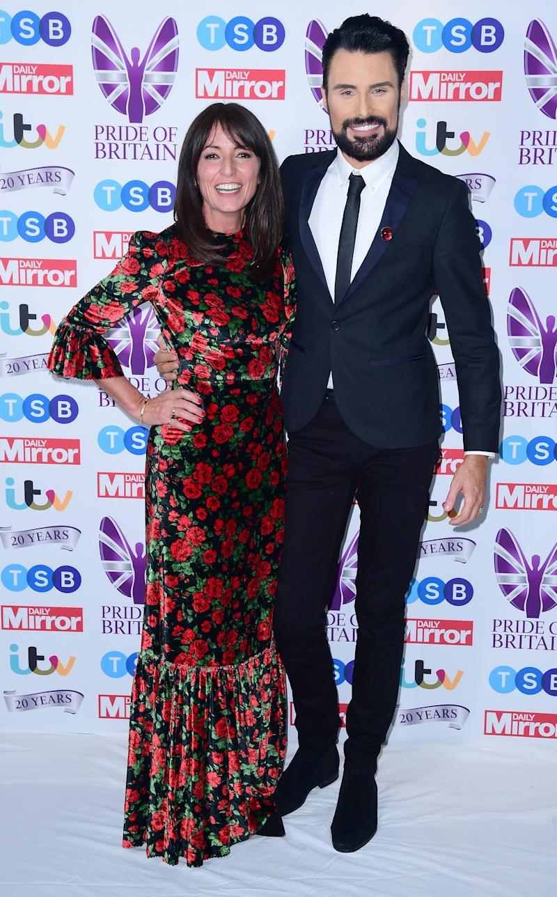 Davina McCall and Rylan Clark-Neal, in the press room during the Pride of Britain Awards held at the The Grosvenor House Hotel, London. (Photo by Ian West/PA Images via Getty Images)