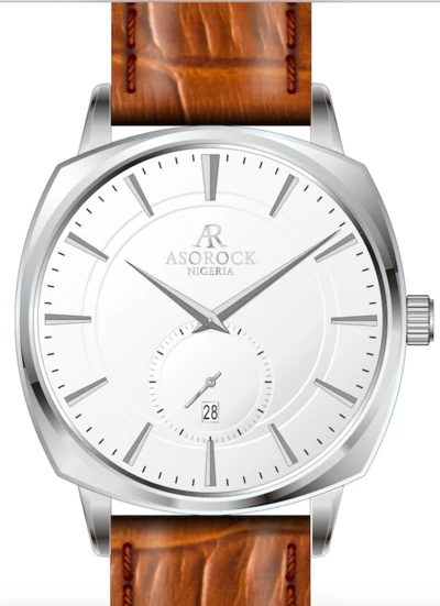 """The product of Nigerian-American Ben Iroala and Zambian-American Andrew Mutale, <a href=""""https://www.asorockwatches.com/"""" rel=""""nofollow noopener"""" target=""""_blank"""" data-ylk=""""slk:ASOROCK"""" class=""""link rapid-noclick-resp"""">ASOROCK</a> is a watch brand that not only designs high-quality timepieces at an affordable price, it also donates a portion of every sale to building libraries in Nigerian villages. <br> <br> <strong>Asorock Africa</strong> Silver/White Monolith Limited Pieces, $, available at <a href=""""https://go.skimresources.com/?id=30283X879131&url=https%3A%2F%2Fwww.asorockwatches.com%2Fcollections%2Fthe-monolith-series%2Fproducts%2Fsilver-white-monolith"""" rel=""""nofollow noopener"""" target=""""_blank"""" data-ylk=""""slk:Asorock Africa"""" class=""""link rapid-noclick-resp"""">Asorock Africa</a>"""