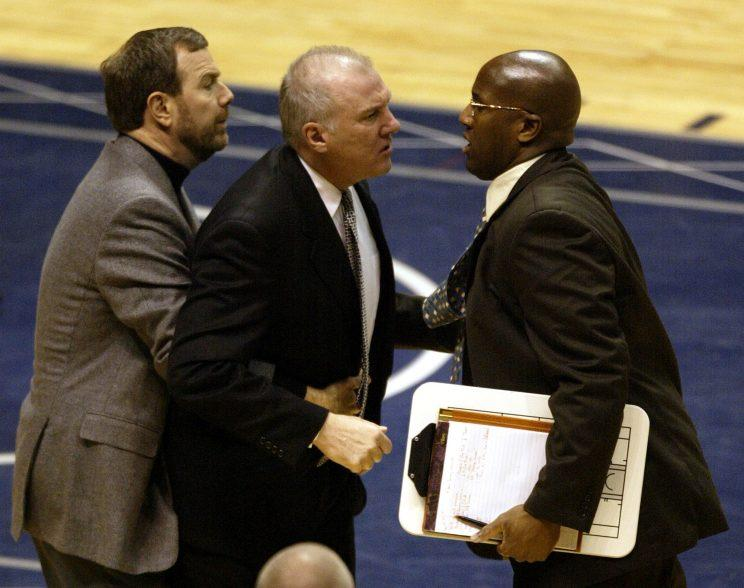 Proof Mike Brown tried to stand in Gregg Popovich's way during a title run before. (AP)