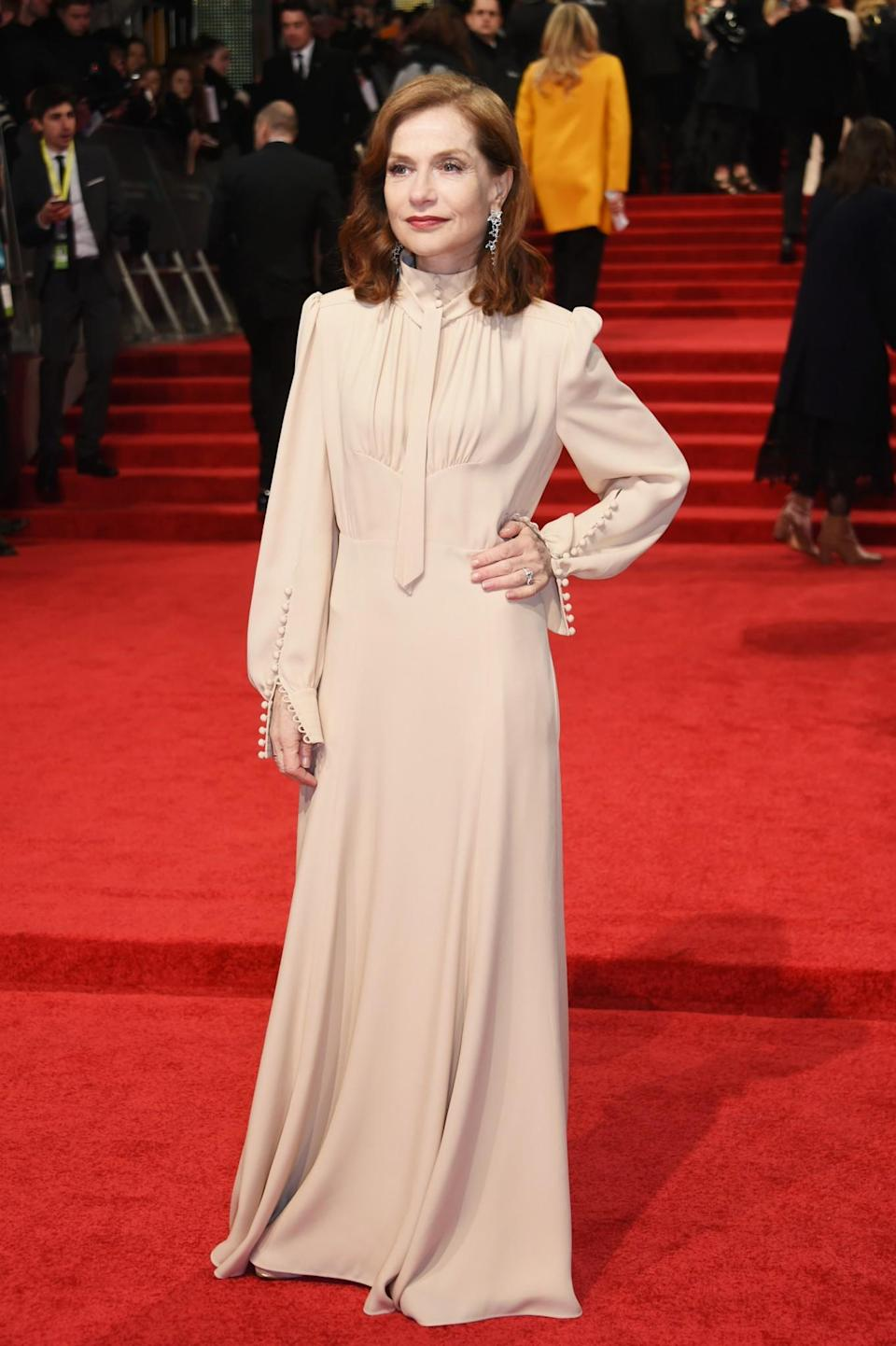 <p>The French actress chose a demure high-necked gown by Chloe. <i>[Photo: Getty]</i> </p>