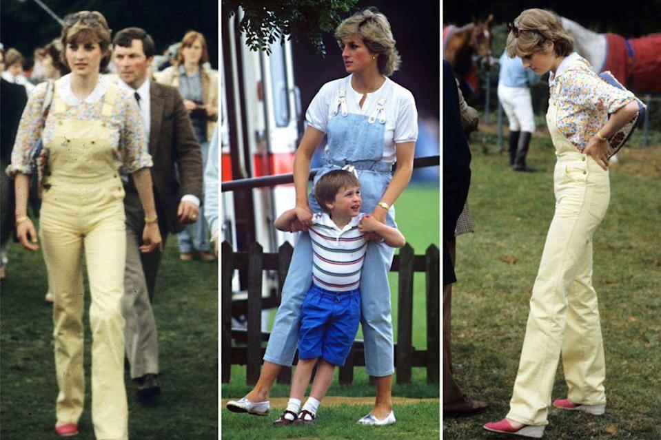 <p>Overalls are back—but Diana was wearing them almost 30 years ago.</p>