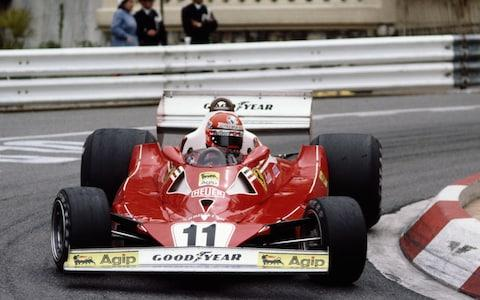Niki Lauda driving his Ferrari during the 1977 Monaco Grand Prix - Credit: Getty Images/Tony Duffy