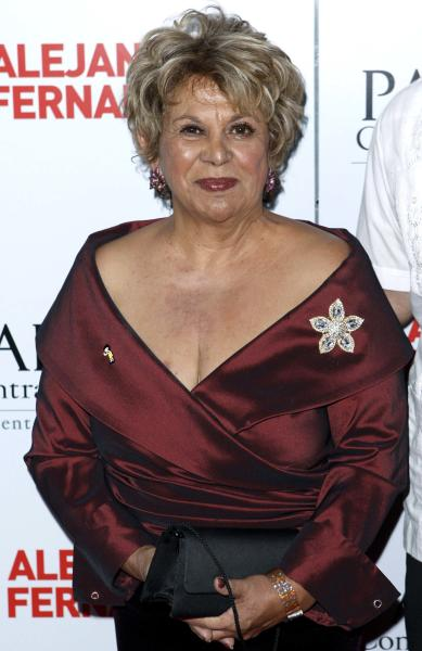 """FILE - This Oct. 7, 2008 file photo shows actress Lupe Ontiveros at Padres Contra El Cancer's 8th annual """" El Sueno de Esperanza"""" benefit gala in Los Angeles. Ontiveros, the popular Texan actress known for her portrayal of Yolanda Saldivar in """"Selena,"""" died Thursday, July 26, 2012, of cancer at the Presbyterian Hospital in the City of Whittier, Calif., according to friend and comedian Rick Najera. She was 69. (AP Photo/Matt Sayles, file)"""