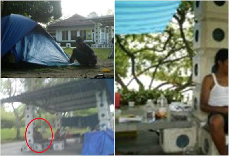 Liyana and other families camping out at Sembawang Park's beach in 2009. (PHOTOS: Liyana Dhamirah Selemat)