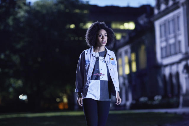 Pearl Mackie as Bill Potts in <em>Doctor Who</em>. (Photo: Simon Ridgway/BBC America)