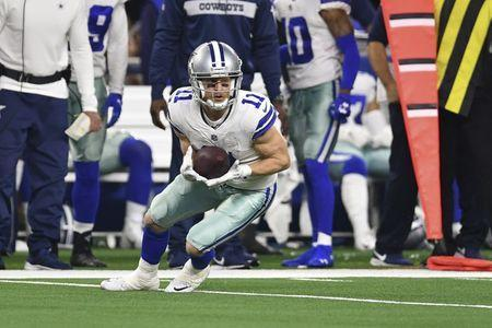 FILE PHOTO - Jan 5, 2019; Arlington, TX, USA; Dallas Cowboys wide receiver Cole Beasley (11) catches a pass against the Seattle Seahawks in the second half in a NFC Wild Card playoff football game at AT&T Stadium. Mandatory Credit: Shane Roper-USA TODAY Sports