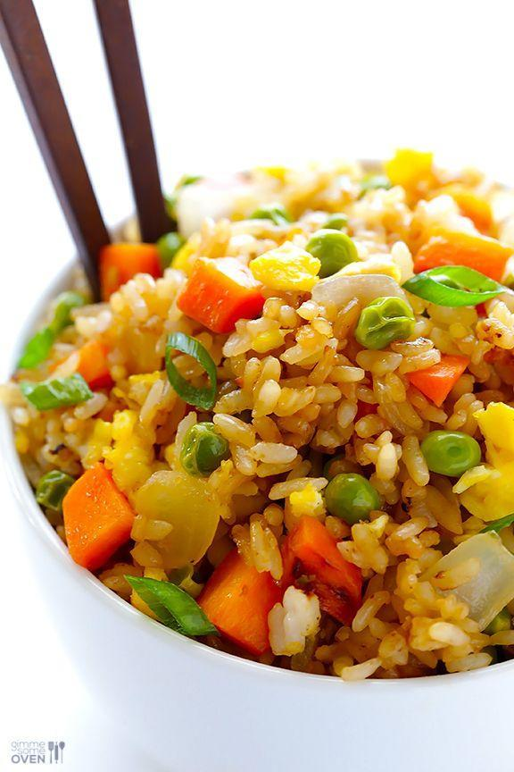"""<p>Get your favorite side dish without a reservation.</p><p>Get the recipe from <a href=""""http://www.gimmesomeoven.com/fried-rice-recipe/"""" rel=""""nofollow noopener"""" target=""""_blank"""" data-ylk=""""slk:Gimme Some Oven"""" class=""""link rapid-noclick-resp"""">Gimme Some Oven</a>.</p>"""