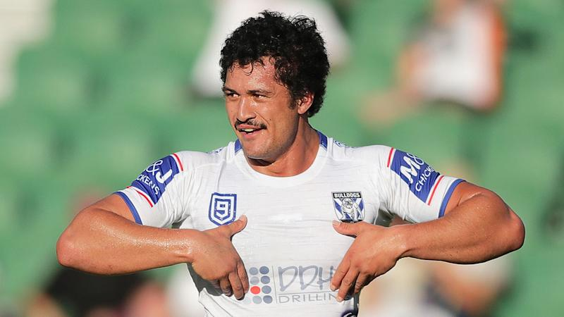Pictured here, Corey Harawira-Naera during his playing days with the Bulldogs.