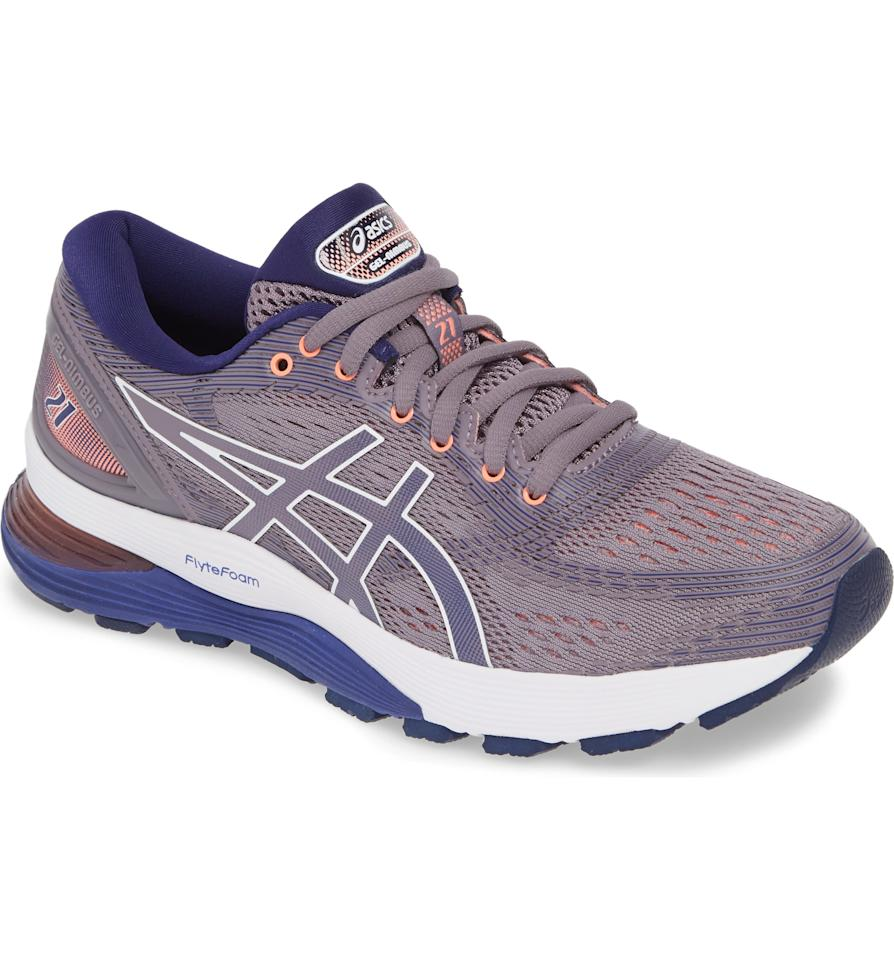 "<p><strong>ASICS</strong></p><p>nordstrom.com</p><p><strong>$111.90</strong></p><p><a href=""https://go.redirectingat.com?id=74968X1596630&url=https%3A%2F%2Fshop.nordstrom.com%2Fs%2Fasics-gel-nimbus-21-running-shoe-women-regular-retail-price-150%2F5044029&sref=http%3A%2F%2Fwww.prevention.com%2Ffitness%2Fworkout-clothes-gear%2Fg28455126%2Fnordstrom-anniversary-sale-walking-running-shoes%2F"" target=""_blank"">SHOP NOW</a></p><p>This pair from ASICS will keep you going during your longest stretches. Thanks to the gel cushioning layers over the foam sole, <strong>they're pleasantly springy, stable, and supportive</strong>. They're also still available in three versatile colors.</p>"