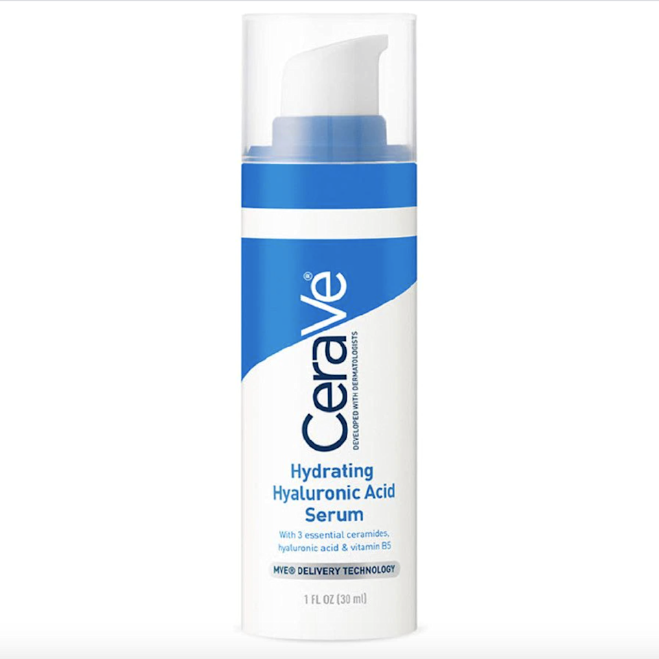 """If moisture retention is one of your skin-care goals, CeraVe's Hydrating Hyaluronic Acid Serum will aid you in your journey toward achieving healthy, plump skin. <a href=""""https://www.allure.com/story/what-is-hyaluronic-acid-skin-care?mbid=synd_yahoo_rss"""" rel=""""nofollow noopener"""" target=""""_blank"""" data-ylk=""""slk:Hyaluronic acid"""" class=""""link rapid-noclick-resp"""">Hyaluronic acid</a> attracts water to the skin, while vitamin B5 helps soothe sensitive skin. $17, Amazon. <a href=""""https://www.amazon.com/CeraVe-Hyaluronic-Hydrating-Vitamin-Fragrance/dp/B07K3261ZD"""" rel=""""nofollow noopener"""" target=""""_blank"""" data-ylk=""""slk:Get it now!"""" class=""""link rapid-noclick-resp"""">Get it now!</a>"""