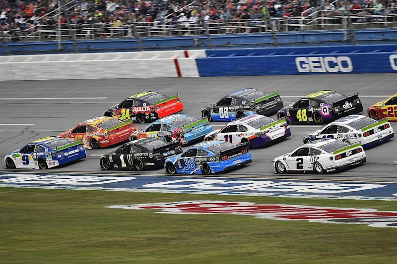 Talladega race will conclude on Monday after rain