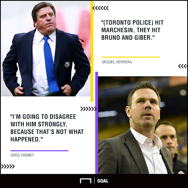 The former Mexico boss was steaming at how law enforcement handled a halftime scuffle and how the officials called the CCL semifinal