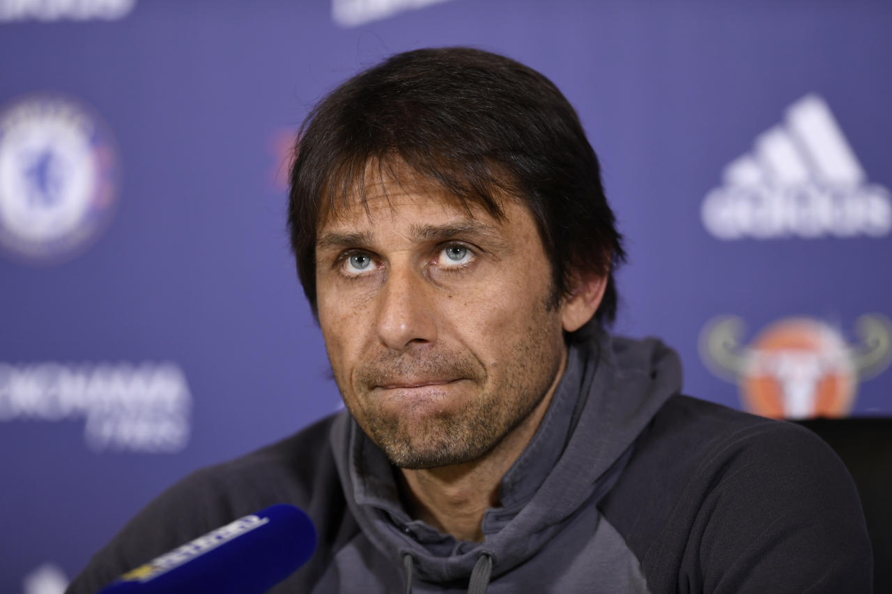 Britain Football Soccer - Chelsea - Antonio Conte Press Conference - Chelsea Training Ground - 28/4/17 Chelsea manager Antonio Conte during the press conference Action Images via Reuters / Tony O'Brien Livepic EDITORIAL USE ONLY.