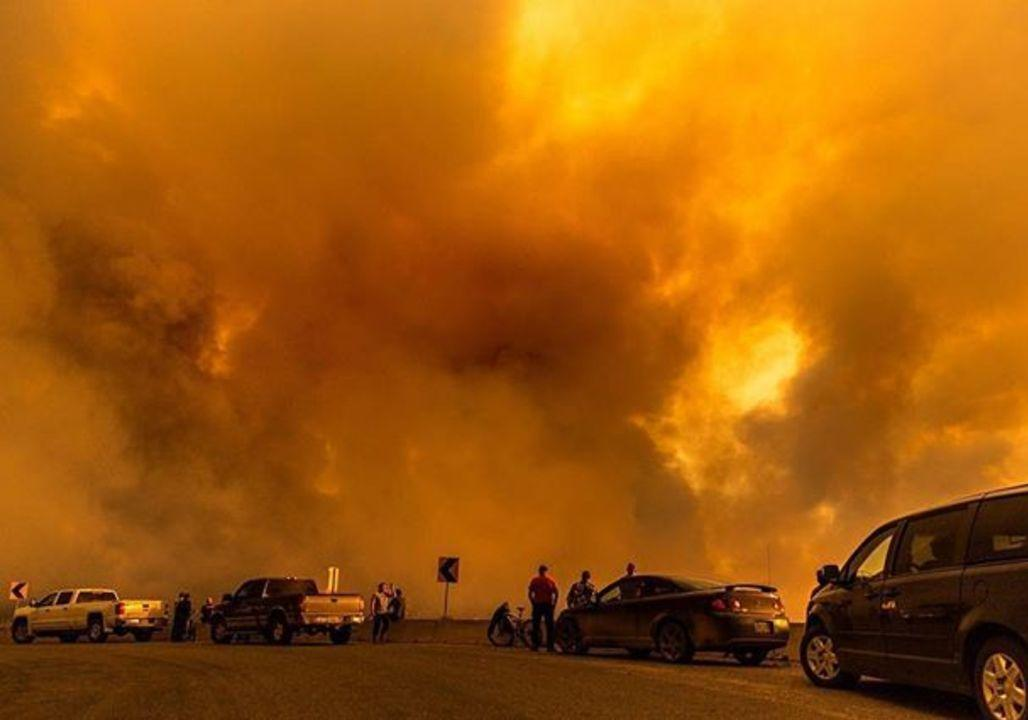 <p>The Shovel Lake wildfire had burned almost 80,000 of hectares of land in Shovel Lake, British Columbia by Aug. 17. The fire was discovered on July 27 and has grown to cover an estimated 79,192 hectares, according to BC Wildfire Service. (Photo from David Luggi via Storyful) </p>