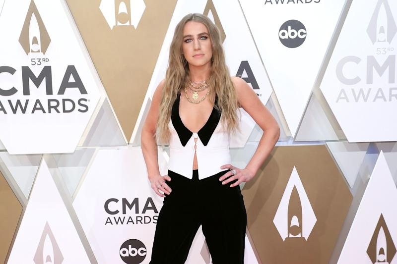 """""""I used to be told all the time that I was not very feminine and that it was not good,"""" saidAndress, seen at the 2019 CMA Awards in November. """"But I feel like women are making a comeback right now."""" (Photo: Taylor Hill via Getty Images)"""