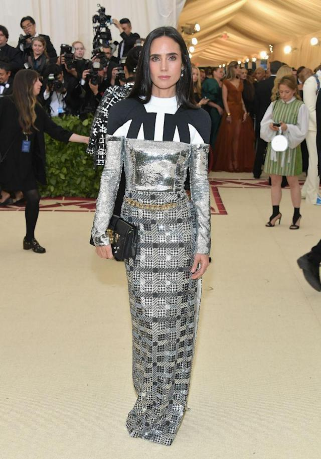 <p>Jennifer Connelly in Louis Vuitton. (Photo: Getty Images) </p>