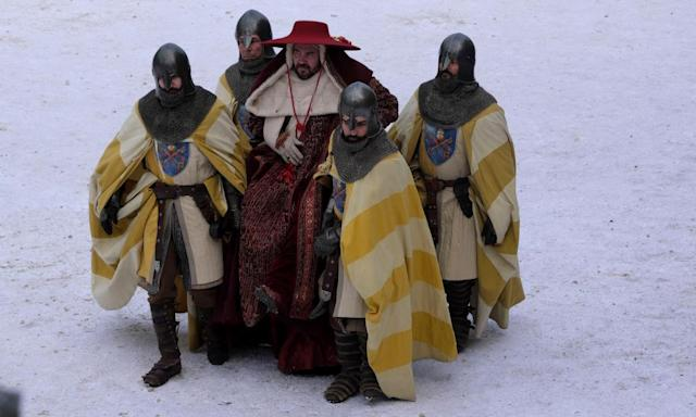 "<span class=""element-image__caption"">Cardinal du Pouget comes to the monastery in The Name of the Rose.</span> <span class=""element-image__credit"">Photograph: Fabio Lovino/BBC/Palomar/11 Marzo Film</span>"