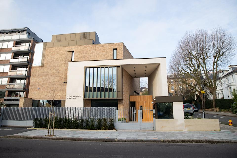 The South Hampstead Synagogue in North London.