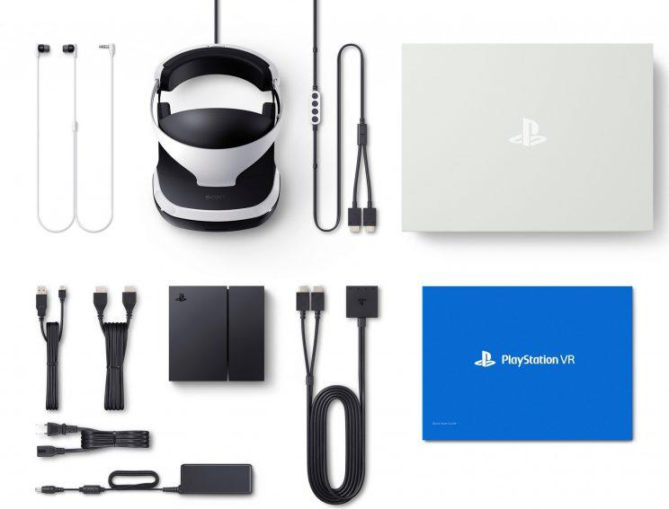 PlayStation VR's cable collection.