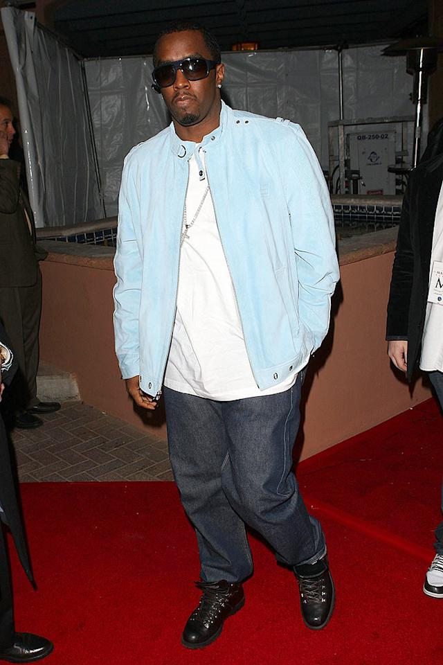 """Sean """"Diddy"""" Combs kicks off Super Bowl weekend at Maxim magazine's party at the grand opening of the Stone Rose Lounge in Scottsdale, Arizona. Jason Merritt/<a href=""""http://www.wireimage.com"""" target=""""new"""">WireImage.com</a> - February 1, 2008"""