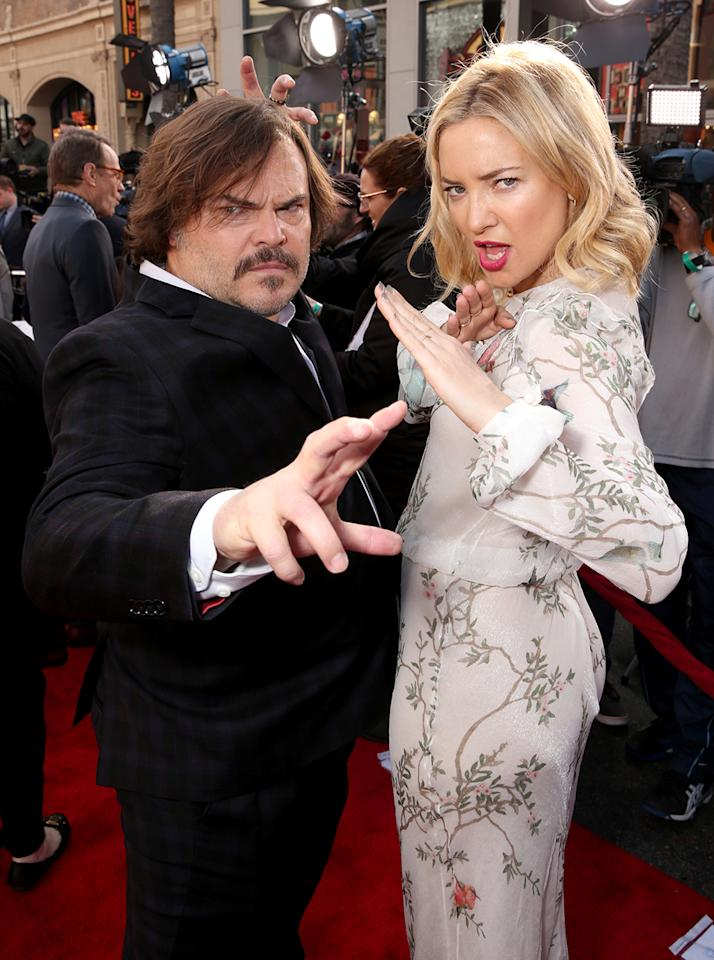 <p>Jack Black and Kate Hudson on Jan. 16 in Los Angeles. (Photo: Todd Williamson/Getty Images) </p>