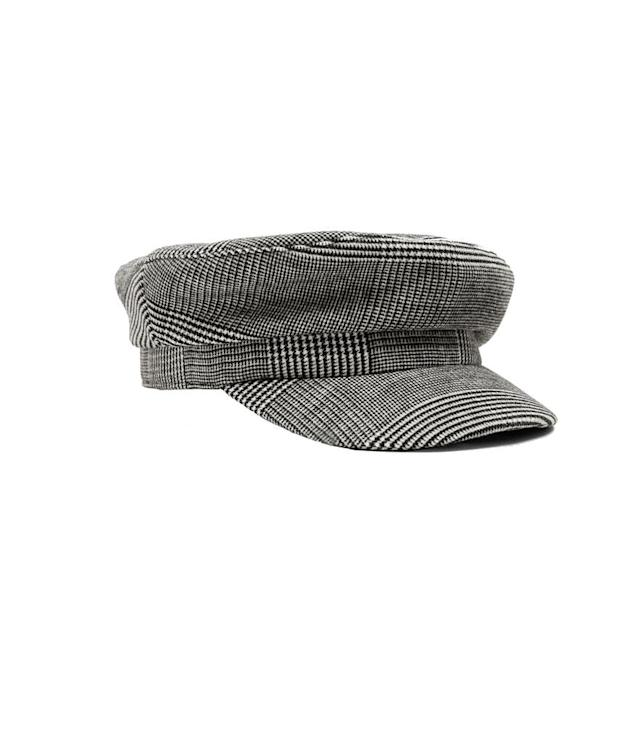 "<p>Checked nautical cap, $23, <a href=""https://www.zara.com/us/en/checked-nautical-cap-p03920001.html?v1=5414562&v2=733916"" rel=""nofollow noopener"" target=""_blank"" data-ylk=""slk:zara.com"" class=""link rapid-noclick-resp"">zara.com</a> </p>"