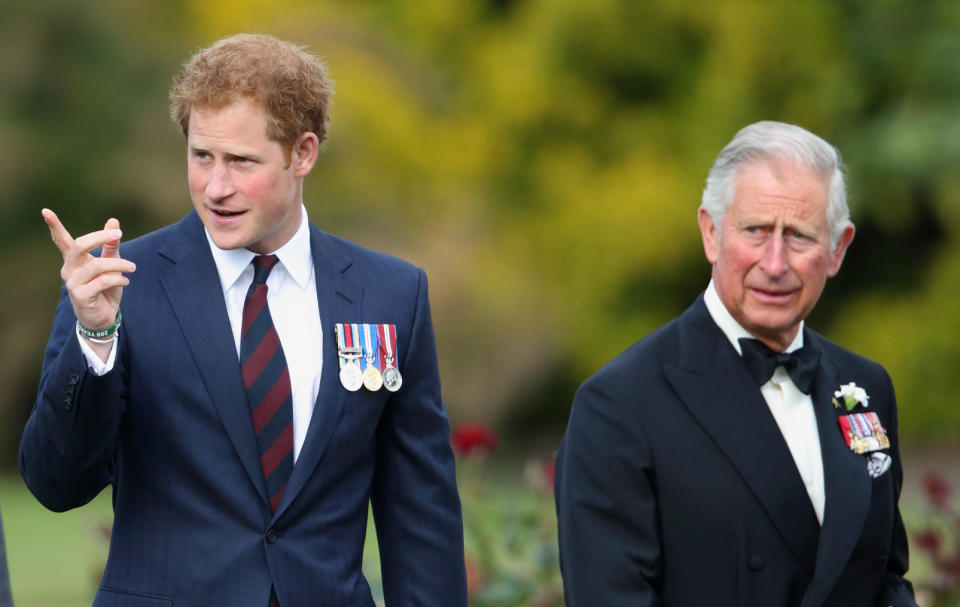 Prince Harry and Prince Charles attend the Gurkha 200 Pageant at the Royal Hospital Chelsea